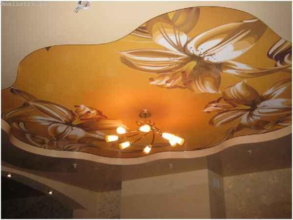 Многоуровневые натяжные потолки с фотопечатью