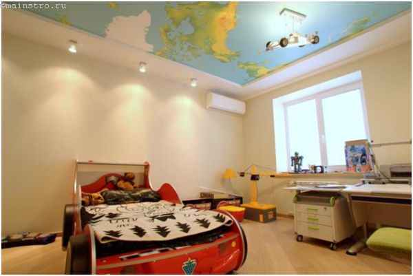 Натяжные потолки с фотопечатью в детской