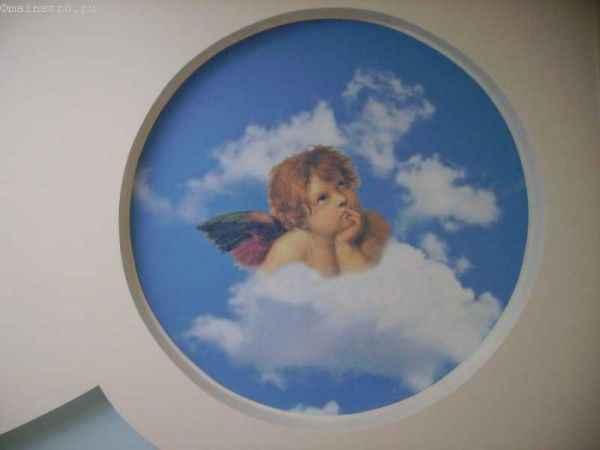 Натяжные потолки с фотопечатью ангела