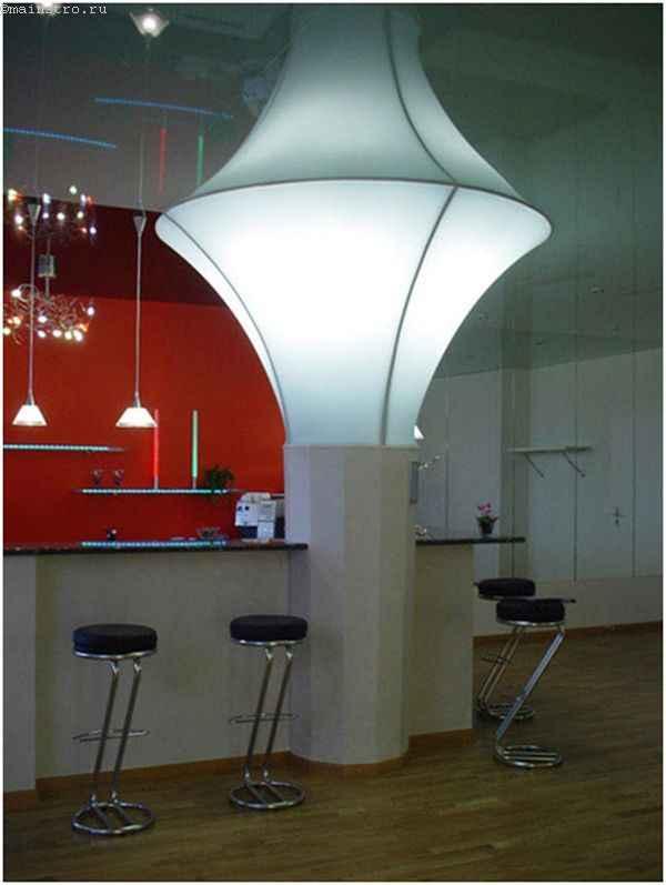 Необычные натяжные потолки для кухни