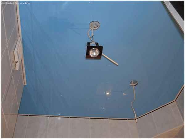 Натяжные потолки для кухни - монтаж светильников