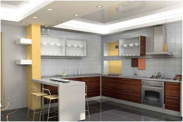 Пленочные натяжные потолки для кухни