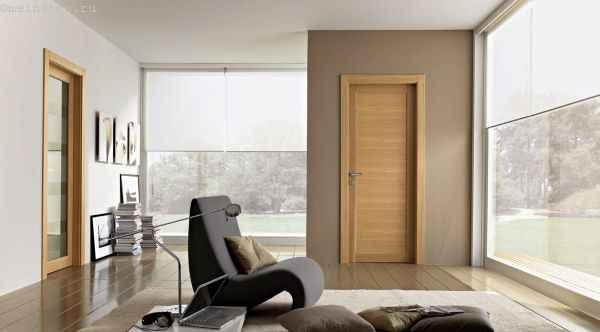 Деревянные межкомнатные двери в интерьере