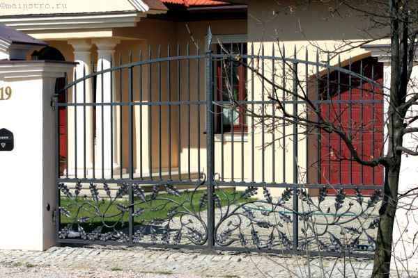 Двухстворчатые распашные ворота