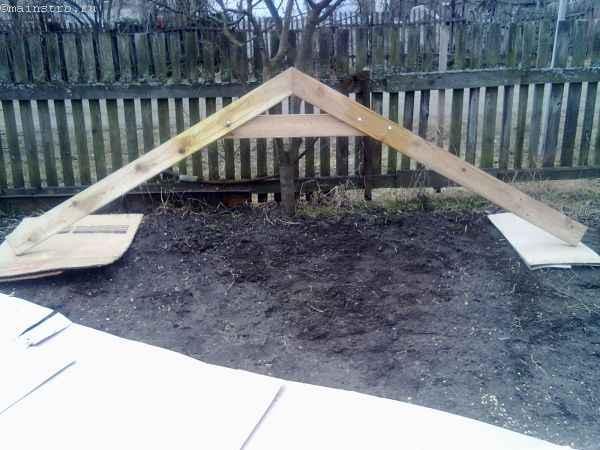 Соединение досок стропил для садовой беседки