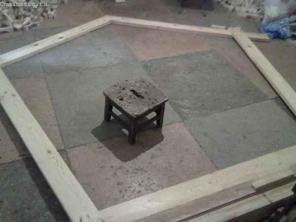 Изготовление пятиугольного элемента дял садовой беседки