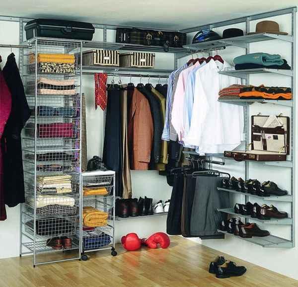 Сборная секционная гардеробная комната - фото