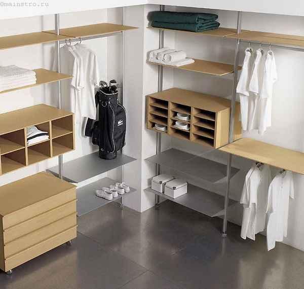 Мужская гардеробная комната - фото