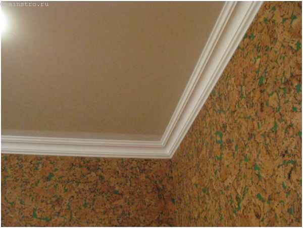 Декоративный багет для натяжных потолков из ткани
