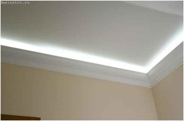Багет для закарнизной подсветки натяжных потолков