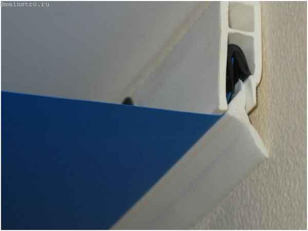 Багет для натяжных потолков  с гарпунным крепежом