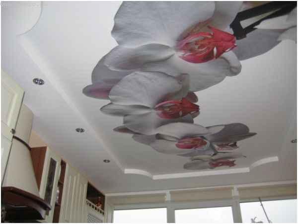 Виды натяжного потолка: ткань с фотопечатью
