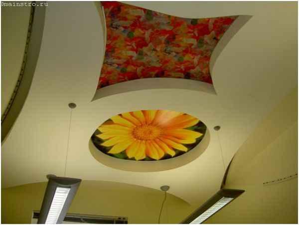 Виды натяжного потолка: сатиновые с печатью изображений