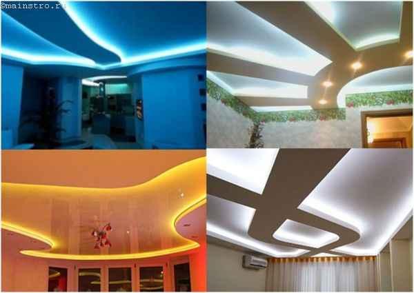Парящий натяжной потолок: примеры дизайнерских решений