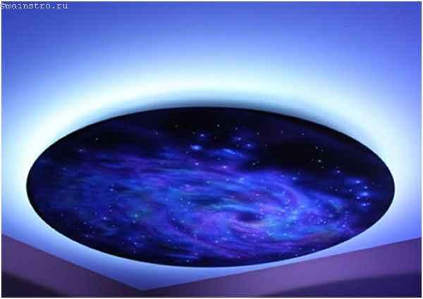 Парящий натяжной потолок «звёздное небо»