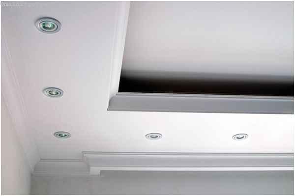 Конструкция парящего натяжного потолка и ниши из ГКЛ