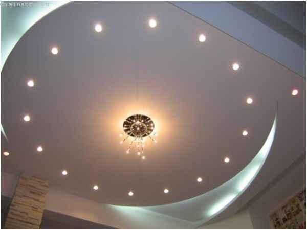 Вариант двухуровневого парящего потолка
