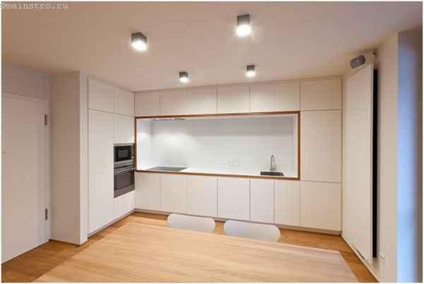 Как выбрать натяжной потолок для кухни - фото матового полотна