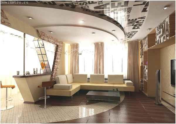 Как выбрать натяжной потолок сложной формы - фото-пример