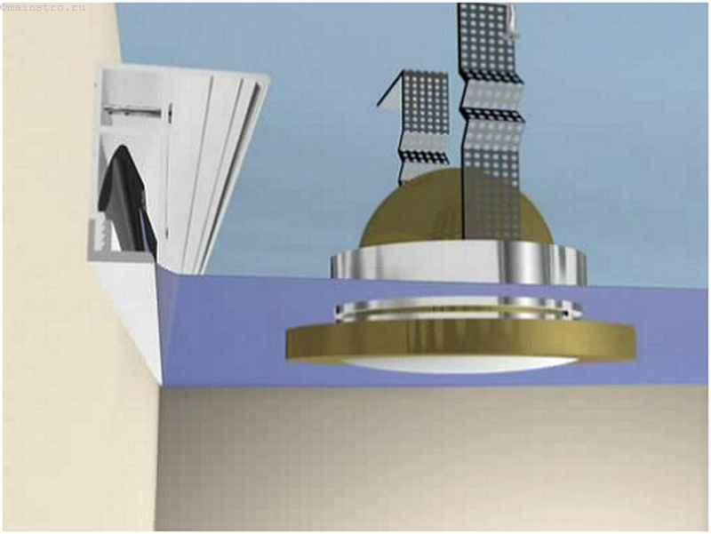 Схема монтажа точечных светильников под натяжные потолки