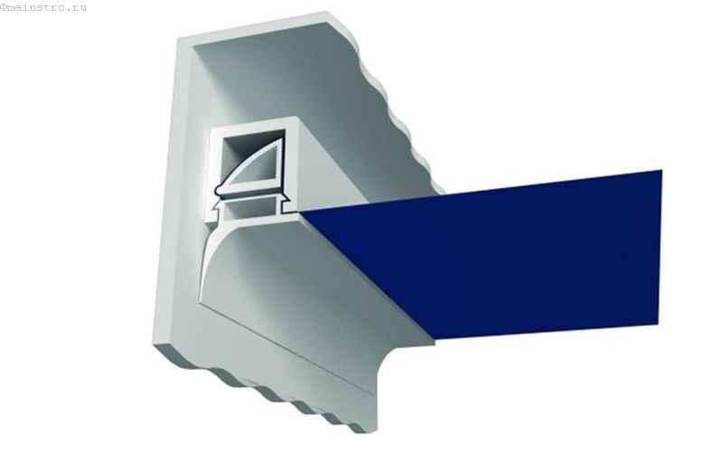Шпатиковый или клиновый метод крепления натяжного потолка