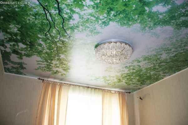 Тканевый натяжной потолок с 3Д фотопечатью - хорошие отзывы владельцев