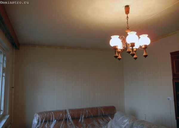 Натяжной потолок : фото помещения до монтажа