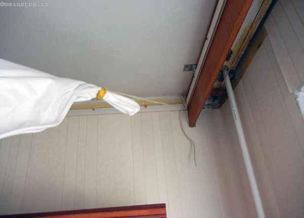 Натяжной потолок : подготовленное полотно