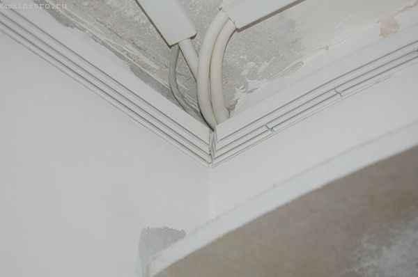 Натяжной потолок : прямолинейные участки профиля