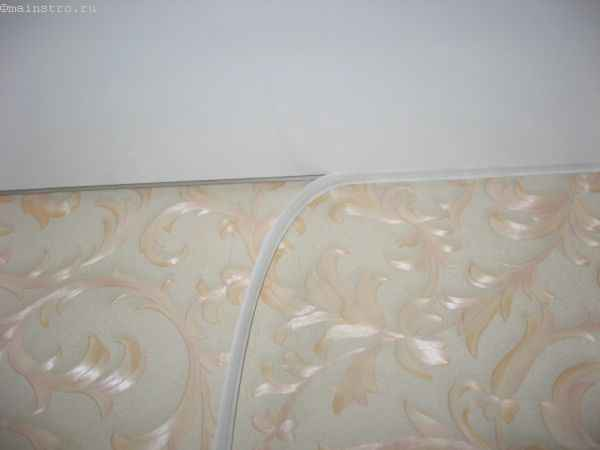 Монтаж ленты для багета натяжного потолка (галтель)