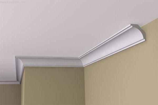 Плинтус для натяжного потолка (галтель) из пенопласта
