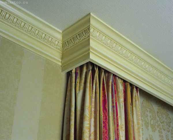 Плинтус-карниз для штор под натяжные потолки