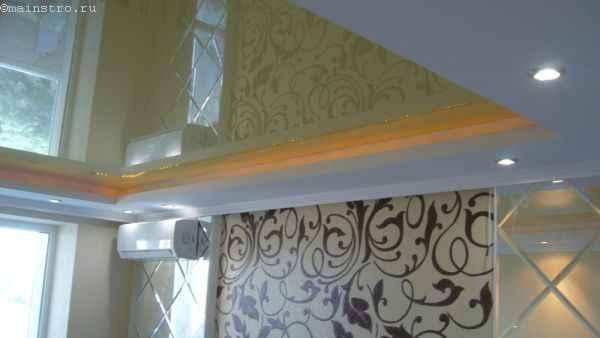 ПВХ натяжной потолок с цветной светодиодной подсветкой