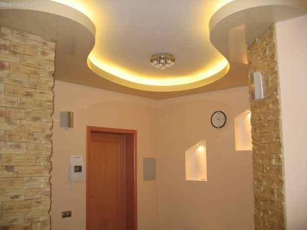Пленочный натяжной потолок с закарнизной светодиодной подсветкой