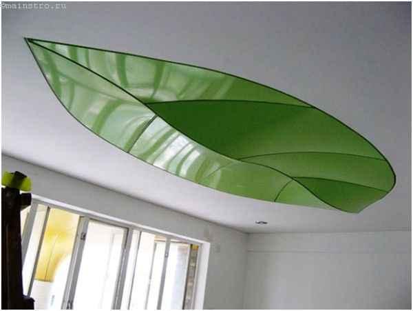 ПВХ натяжной потолок в виде листка