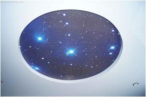Звездное небо и натяжной потолок
