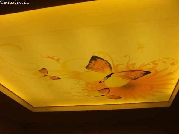 На фото подсветка потолка детской со скрытой ниши