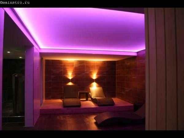 Фото потолков с подсветкой