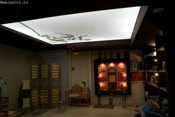 Натяжные потолки со скрытой подсветкой