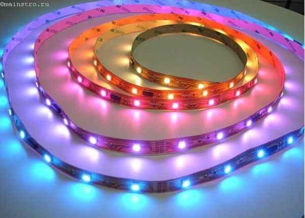 Цветная светодиодная лента для натяжного потолка