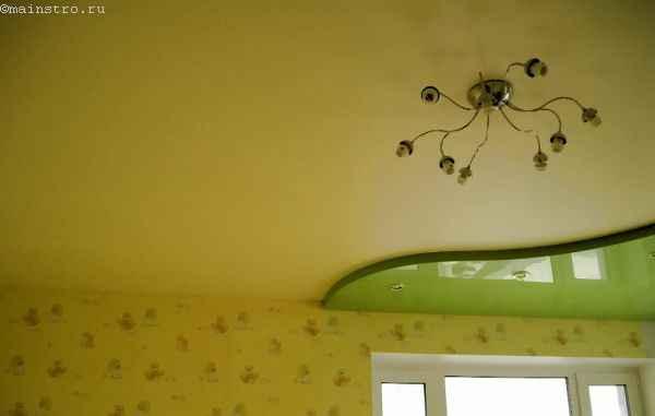 Сатиновые и глянцевые натяжные потолки