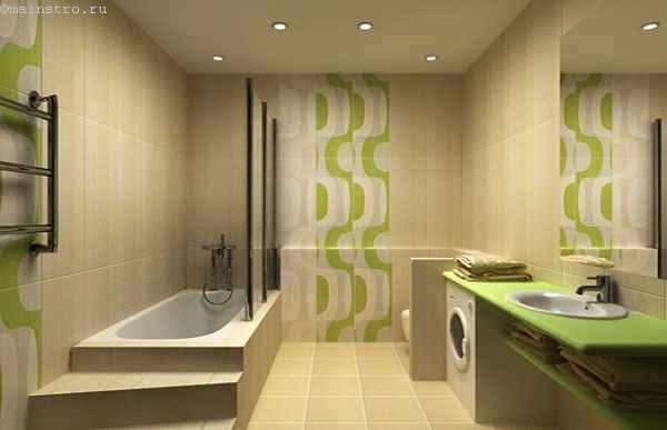 На фото натяжные потолки в ванной