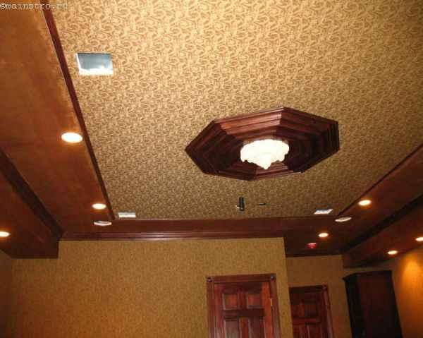 Тканевые натяжные потолки: фото холла