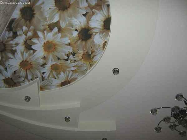 Тканевые натяжные потолки и ГК потолки фото