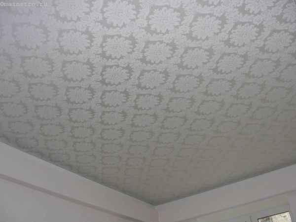 Фактурные тканевые натяжные потолки фото