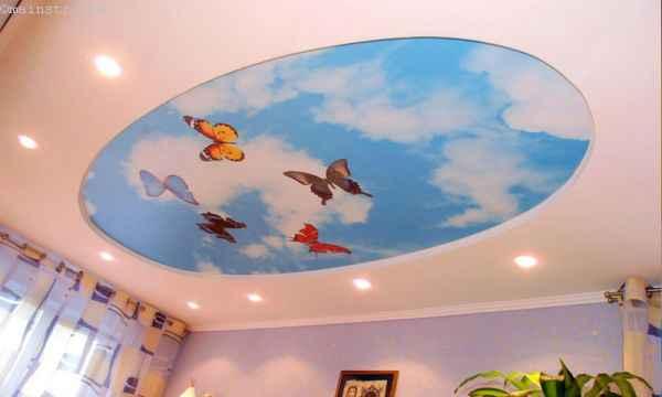Пленочные и тканевые натяжные потолки