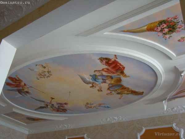 Тканевые натяжные потолки с изображениями