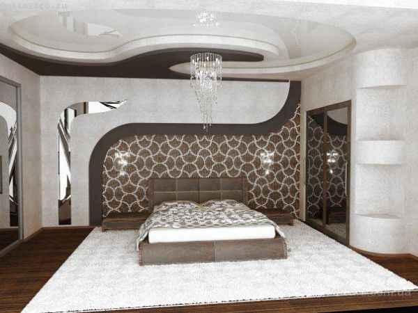 Сложные натяжные потолки в интерьере