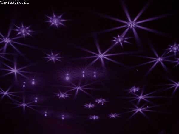 Одноуровневые натяжные потолки с эффектом «звёздное небо»