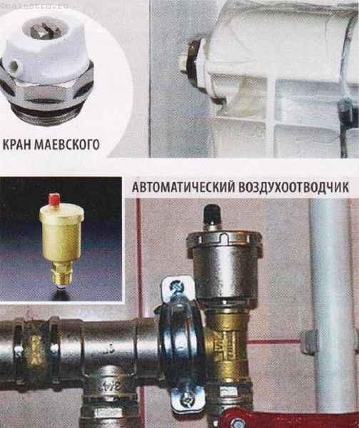 Настройка отопления: разновидности воздухоотводчиков